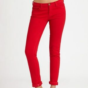 Current/Elliot The Rolled Skinny Red Jeans